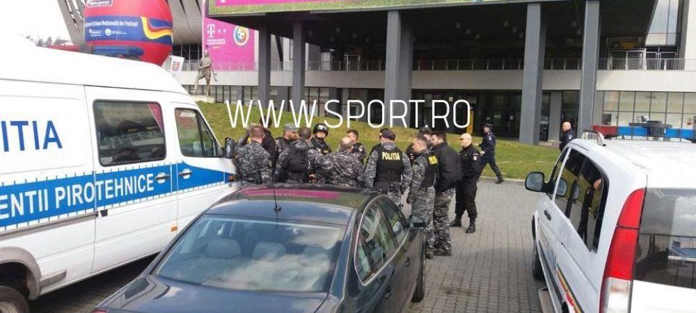 FOTO | Masuri de securitate sporite la Cluj, inaintea meciului! Inspectie pirotehnica si a trupelor antitero inaintea meciului cu Spania