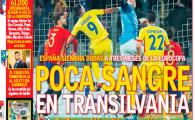 """AS, astazi pe prima pagina: """"N-am avut sange in Transilvania!"""" Romania, record in fata reginei Europei: Spania a jucat 6 meciuri aici, nu ne-a batut niciodata"""
