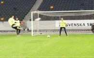 Zlatan s-a DEZLANTUIT dupa vanatoarea de ursi cu Mutu din Romania! Ce gol a marcat la primul antrenament cu Suedia. VIDEO