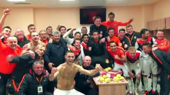 SUPER VIDEO! Mircea Lucescu s-a bucurat la fel ca CR7 dupa calificarea in semifinalele Europa League! Vezi imagini din vestiar