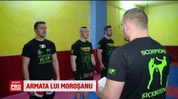 """Video fabulos cu Morosanu facand instructie cu SOLDATII sai. """"Moartea din Carpati"""" si-a facut armata: un cioban, un manechin si un bodyguard. Ce ii pune sa faca"""