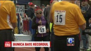 VIDEO | Bunica sportiva alearga suta de metri in timp record, apoi face si flotari :)