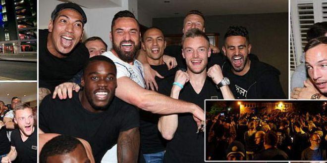 Vardy is having a party!  Mii de oameni pe strazile din Leicester! Fanii s-au dus acasa la jucatori! VIDEO