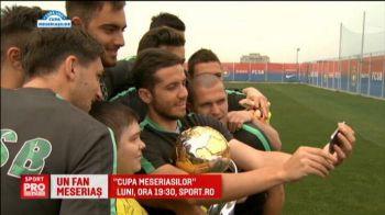 Racheta paseaza pentru Seful, gol Meseriasul! :) Suporterul care vrea sa ridice Cupa Ligii impreuna cu stelistii le-a dat porecle favoritilor