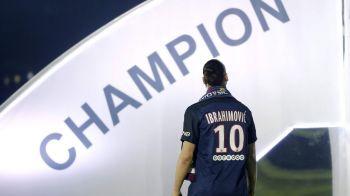 Gest URIAS pentru Zlatan la despartirea de PSG! Suedezul nu a primit Turnul Eiffel asa cum si-a dorit, dar va da numele unei tribune de la stadion