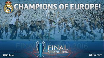 BUCURIE DEZLANTUITA pentru Real dupa finala Champions League! Vezi aici penalty-urile si reactia jucatorilor la golul decisiv