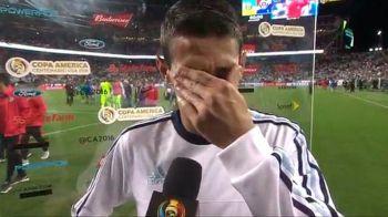 """""""Bunico, o sa-mi lipsesti atat de mult!"""" Imagini incredibile! Di Maria a inceput sa planga live la TV dupa victoria de la Copa America"""
