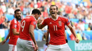 Moment istoric pentru galezi: primul meci la Euro, prima victorie! Tara Galilor 2-1 Slovacia! Duda, primul jucator care marcheaza in poarta galezilor la un turneu final dupa Pele :)