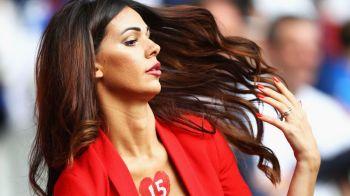 Cea mai SEXY prezenta in tribune din grupa Romaniei la Euro! Cine e bruneta care a cucerit campionatul european. FOTO