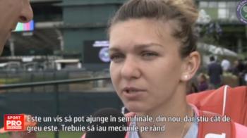 "Simona Halep e pregatita de Wimbledon si vrea sa-si bata performanta din 2014, cand a jucat in semifinale: ""Este visul meu, voi lua meciuril pe rand"""