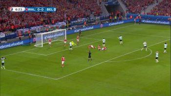 Tripla ocazie uriasa a Belgiei in debutul meciului cu Tara Galilor. VIDEO