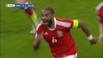 GOOOL Tara Galilor. Ashley Williams egaleaza cu o lovitura de cap, in urma unui corner. VIDEO