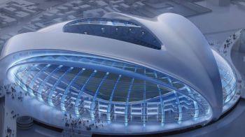 VIDEO Cum arata ACUM noua super arena a Craiovei. Olguta viseaza la o inaugurare de vis cu Real Madrid in 2017