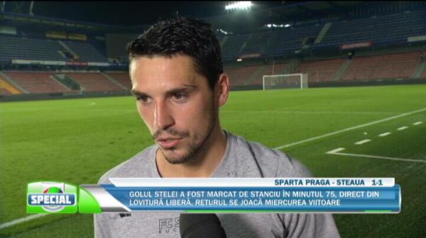 'Nu ma gandesc la pretul meu, vreau sa dau totul pentru Steaua!' Prima reactie a lui Stanciu dupa golul MINUNAT marcat la Praga