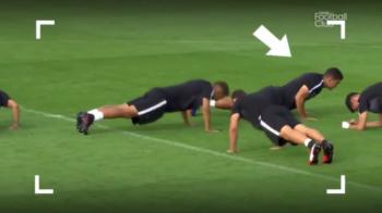 Cum face Hatem Ben Arfa flotari la antrenamentele lui PSG :) A fost scos din lot dupa imaginile astea. VIDEO