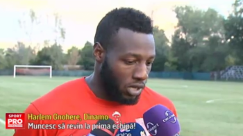 "Reactia lui Gnohere dupa tripla marcata pentru Dinamo II. Francezul vrea sa revina langa Rotariu si Lazar: ""Muncesc mult"""