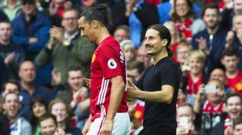 Man United 4-1 Leicester. Pogba a dat primul gol la United!Reactia lui Zlatan dupa ce sosia sa a intrat pe teren si a venit sa il ia in brate :))