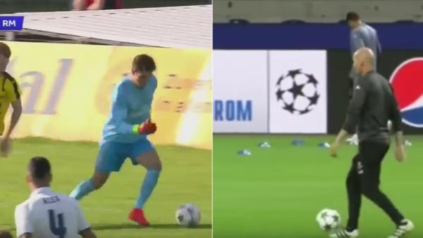 Ce diferenta! Zidane a facut spectacol la antrenamentul lui Real! Fiul sau s-a vazut de ras la UEFA Youh League! Dortmund - Real, 21:45, ProTV!