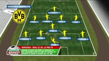 Analiza TRANSFER MARKET | Un 11 de start de 500 mil euro vs cea mai spectaculoasa echipa din Europa, cu 20 goluri in 4 meciuri! Cum vor arata echipele in Dortmund - Real, azi, 21:45, la ProTV