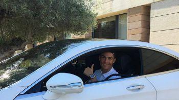 Ziua si masina pentru Ronaldo! Cu ce BOLID de 70.000 de euro s-a afisat in fata fanilor! FOTO