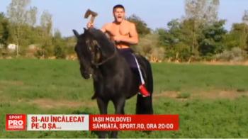 "Don Quijote si Sancho Panza in varianta moldoveneasca se bat sambata seara la Sport.ro, in gala IASII RINGULUI. ""Bestia Moldovei"" vrea sa intre calare in ring :) VIDEO"