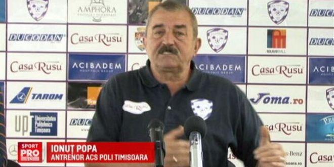 Greu de demis   Timisoara e la -9, iar Popa nu stie cat mai rezista:  Si jucatorii ma intreaba daca imi dau demisia