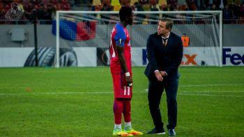 A marcat golul cu care Steaua a castigat un punct, dar l-a nemultumit pe Reghe cu pozitionarea sa in teren. Ce s-a intamplat la finalul partidei intre antrenor si Muniru