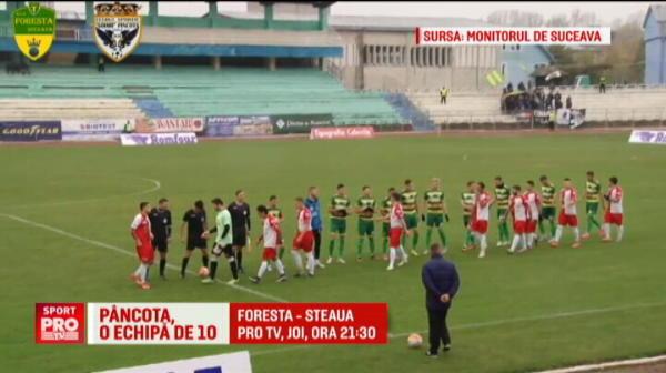 I-au batut de le-au sarit fulgii! Soimii Pancota a aliniat doar 10 oameni la start, Foresta le-a dat 14 goluri! Foresta - Steaua, joi la ProTV in Cupa Romaniei