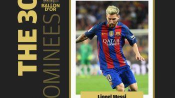 UPDATE: Avea cineva vreun dubiu? :) Leo Messi este pe lista pentru Balonul de Aur! S-au anuntat toti cei 30 de nominalizati