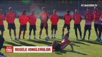 Robben, Ribery si Lewandowski au ramas masca in fata superschemelor unui albanez care jongleaza PE STRAZI. VIDEO