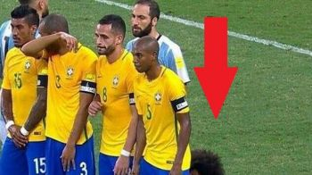 """Ce naiba face Marcelo?"". Modul inedit in care s-a ""aparat"" fundasul brazilian la o lovitura libera a lui Messi. FOTO"