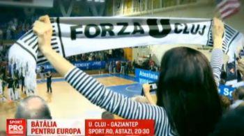 Meci greu pentru U Cluj in Europe Cup! Partida baietilor cu Gaziantep este ACUM la Sport.ro