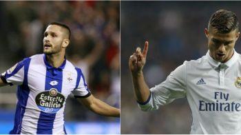 Andone nu se intalneste cu Ronaldo, Deportivo poate avea o sansa uriasa: Zidane nu-i va folosi pe Cristiano, Benzema si Modric, in timp ce Bale e si el accidentat