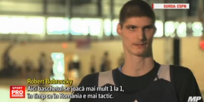 Are 16 ani, dar masoara deja 2,31 metri! Pustiul roman care viseaza sa ajunga in NBA: este deja comparat cu  Big  Ghita Muresan. VIDEO