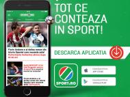 O noua experienta in tribuna de peste 1 milion de oameni! DESCARCA GRATUIT noua aplicatie Sport.ro!