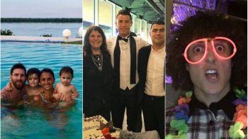 Cum au petrecut Cristiano, Messi, Neymar si Suarez de Revelion. In familie, intre prieteni si la 40 grade C