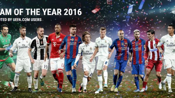 UEFA a anuntat ECHIPA ANULUI 2016. Cum arata 11-le perfect ales de fanii din intreaga lume