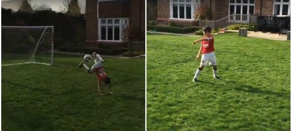Fiul lui Van Persie face spectacol in curtea casei: gol cu LOVITURA SCORPIONULUI! Ce a facut dupa aceea VIDEO