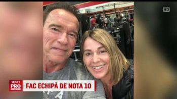 Nadia s-a dus la sala cu Arnold Schwarzenegger! Imaginea inceputului de an