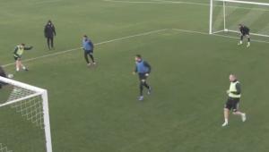 Keseru, goluri SENZATIONALE in echipa cu Moti! Ce au facut la ultimul antrenament