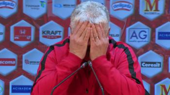 """VIDEO """"E greu... vai, vai, vai, vai!"""" Moment senzational cu Andone la conferinta dupa ce a pierdut cu Viitorul"""