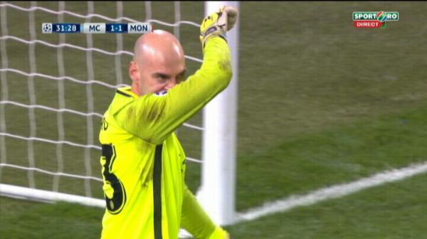 Manchester City 1-1 AS Monaco, gol Falcao