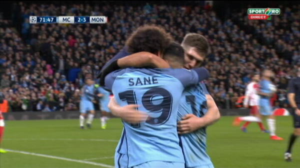 Manchester City 3-3 AS Monaco, gol Kun Aguero