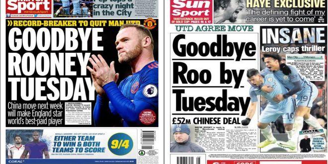 Englezii spun ca se face! Rooney merge in China si va avea un salariu colosal: 64 de milioane pe ani!