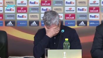 Lucescu, in lacrimi dupa ce a fost eliminat de Stanciu si Chipciu din Europa League. VIDEO