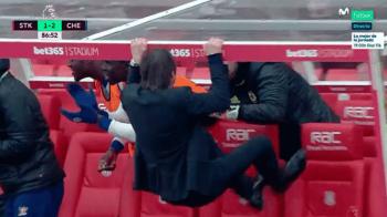 VIDEO GENIAL! Conte a luat-o razna pe banca lui Chelsea! Cum s-a bucurat la gol e fabulos