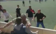 Imagini rusinoase la un meci de juniori: parintii s-au batut ca in ringul de MMA, chiar sub ochii copiilor VIDEO