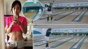 Bowling-ul se poate juca cu crosa de golf! Ce a putut sa faca aceasta femeie dintr-o singura lovitura
