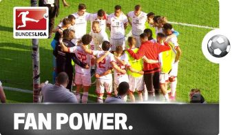FANTASTIC! Un suporter a intrat pe teren si le-a tinut un discurs jucatorilor lui Mainz dupa infrangere! VIDEO