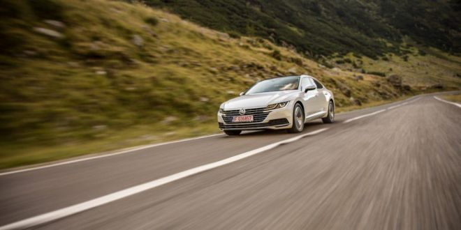 FOTO si VIDEO: un VW Arteon 2.0 TDI 150 CP pe Transfagarasan